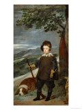 Infante Balthasar Carlos in Hunting Dress, 1635-36 Gicléedruk van Diego Velázquez