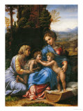 The Holy Family (La Petite Sainte Famille) Reproduction proc&#233;d&#233; gicl&#233;e par Raphael 
