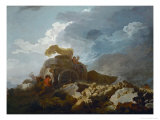 Thunderstorm, or the Cart Stuck in the Mud, 1759 Giclée-Druck von Jean-Honoré Fragonard