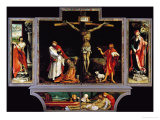 The Isenheim Altar, Closed, circa 1515 Giclée-tryk af Matthias Grünewald