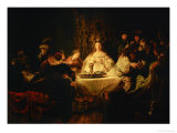 Samson Posing a Riddle at the Wedding Feast, 1638 Reproduction procédé giclée par Rembrandt van Rijn