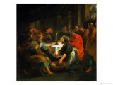 Christ Washing the Apostles' Feet, 1632 Lmina gicle por Peter Paul Rubens