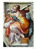 The Sistine Chapel; Ceiling Frescos after Restoration, the Libyan Sibyl Gicléedruk van Michelangelo Buonarroti