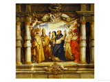 Saint Clara Between Priests and Churchfathers (Saint Ambrosius) Giclee Print by Peter Paul Rubens