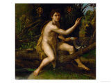 Saint John the Baptist in the Desert, Showing the Cross of the Passion Giclee Print by  Raphael
