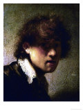 Youthful Self-Portrait Giclee Print by  Rembrandt van Rijn