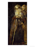 Two Monks; One, Deaf, Listens to the Others Who Shouts into His Ear Giclee Print by Francisco de Goya