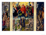 Weighing of the Souls, Triptych of the Last Judgment Gicléetryck av Hans Memling