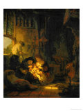 The Holy Family, Also Known as the Household of the Carpenter, 1640 Giclee Print by  Rembrandt van Rijn