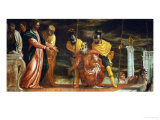 The Centurion of Capernaum Who Begs Jesus to Heal His Paralyzed Servant Giclée-Druck von Paolo Veronese
