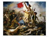 Liberty Leading the People, 1830 Reproduction procédé giclée par Eugene Delacroix