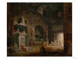 View of a Hall of the Museum of French Monuments, after 1798 Giclee Print by Hubert Robert