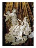 Ecstacy of Saint Theresa of Avila, Marble, 1645 Giclée-tryk af Bernini, Giovanni Lorenzo