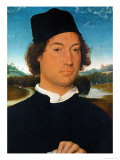 Portrait of an Unknown Man, With Landscape, 1490 Giclee Print by Hans Memling