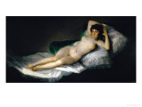 The Nude Maja, circa 1800 Giclée-tryk af Francisco de Goya