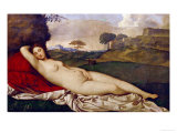 Sleeping Venus Giclee Print by Giorgione 