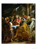 Last Supper, 1630-1632, Commissioned by Catherine Lescuyer Giclée-Druck von Peter Paul Rubens