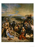 The Massacre of Chios, Greek Families Waiting for Death or Slavery, 1824 Giclee Print by Eugene Delacroix