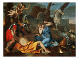 Tancred and Herminia, from Torquato Tasso's Poem Gerusalemme Liberata, circa 1635 Giclee Print by Nicolas Poussin