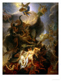 Fall of the Rebel Angels, Project for a Ceiling in the Chateau of Versailles Giclee Print by Charles Le Brun