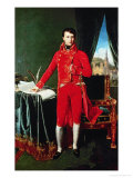 Napoleon I Bonaparte (1769-1821) Reproduction procédé giclée par Jean-Auguste-Dominique Ingres