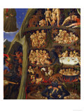 Detail of the Damned in Hell, from the Last Judgement Reproduction procédé giclée par Fra Angelico