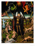Triptych with the Last Judgement: Center Panel Detail: The Archangel Michael Weighing the Souls Giclee Print by Hans Memling