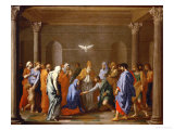Marriage, from the Series of the Seven Sacraments, Before 1642 Giclee Print by Nicolas Poussin