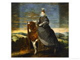Margarete of Austria (1584-1611), Wife of Philip III, on Horseback, 1636 Giclee Print by Diego Velázquez
