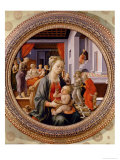 Madonna and Child; Scenes from the Life of Saint Anne (Bartolini Tondo) Giclee Print by Fra Filippo Lippi