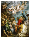 Assumption of Saint Mary, Painted for the Chapel of Saint Mary in the Jesuit Church in Antwerp Giclee Print by Peter Paul Rubens