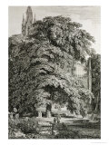 Cathedral Hidden Among Trees Giclee Print by Karl Friedrich Schinkel