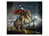 Felipe III, King of Spain (1578-1621) on Horseback Reproduction procédé giclée par Diego Velázquez