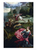 Saint George and the Dragon Giclee Print by Jacopo Robusti Tintoretto
