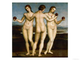 The Three Graces Giclée-Druck von  Raphael