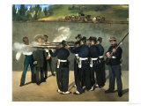 The Execution of Emperor Maximilian of Mexico, June 19, 1867 Giclee Print by Édouard Manet