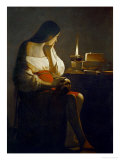 The Magdalene with a Night Light Giclée-tryk af Georges de La Tour