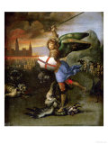 Saint Michael, Painted for Guidobaldo Montefeltro, Duke of Urbino Impression giclée par  Raphael