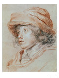 Portrait Study of His Son Nicolas, Chalk Drawing Giclee Print by Peter Paul Rubens