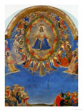 The Last Judgement, Christ in His Glory, Surrounded by Angels and Saints, Fresco (Around 1436) Giclee Print by Fra Angelico