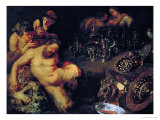 And Jan Brueghel the Younger (1601-1678): Drunken Silenus, circa 1611-12 Giclee Print by Peter Paul Rubens