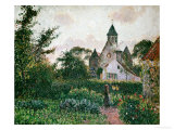 The Church in Knocke, 1894 Stampa giclée di Camille Pissarro