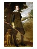 Philip IV, King of Spain (1605-1665), with Hunting Dog, Painted 1634-1636 Giclee Print by Diego Velázquez