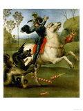 Saint George and the Dragon Impression giclée par  Raphael