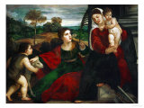 Madonna and Child with Saints Agnes and John the Baptist Giclee Print by  Titian (Tiziano Vecelli)
