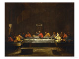 The Eucharist, Symbolized by the Last Supper Lmina gicle por Nicolas Poussin