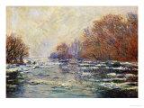 Ice Floes Near Vetheuil (Le Debacle Pres De Vetheuil), 1880 Giclée-tryk af Claude Monet