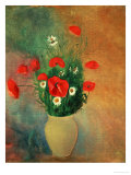 Vase with Red Poppies Giclee Print by Odilon Redon