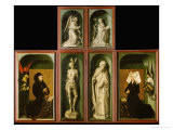 Altar of the Last Judgment, Reverse Panels Giclee Print by Rogier van der Weyden