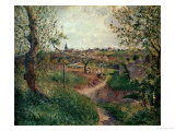 A Path Through the Fields (Pontoise) Giclee Print by Camille Pissarro